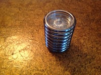 8 glass and sliver plated coasters