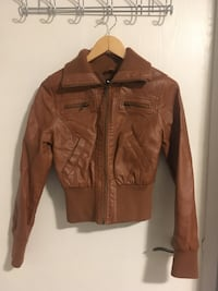 Seductions Brown Faux Leather Jacket CA, N6G