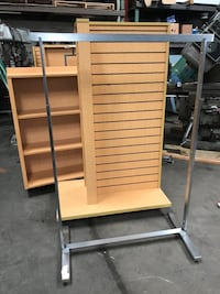 Double Sided Retail Single Rod Clothing Rack Display/Fixture