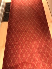 2 dark red hallway rugs sizes 9 ft X 3 ft & 17 ft X 31 inches Collingwood, L9Y 0H8