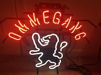 red and white Ommegang neon light signage Columbia, 21046