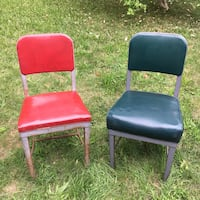 Pair of vintage industrial office chairs Grimsby, L3M 2A9
