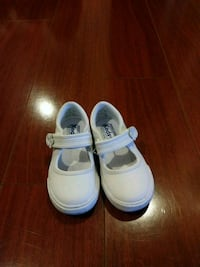 pair of white velcro strap shoes Downey, 90242