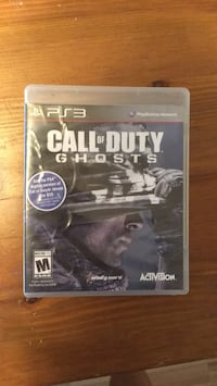 Call of Duty Ghosts PS3 game case Cambridge, N1S 3C4