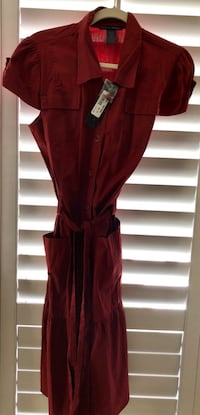 New Rust Colored Cotton Button Down Dress Size 16 Chino Hills, 91709