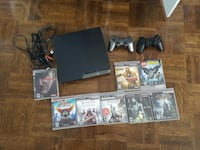 ps3 slim console, 2 controllers, ps3 game lot Toronto, M5A