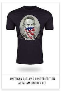 American outlaws Abraham Lincoln tee Hickory Hills, 60457