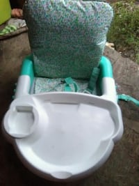 baby's white and green high chair Harleyville, 29448
