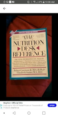 Nutrition reference book