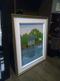 Large painting of cabin