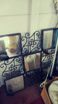 black metal framed wall mirror Fort Myers