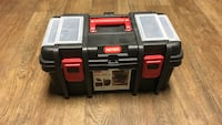 black and red toolbox