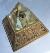 Sphinx, In a Pyramid of Acrylic, on a Cryptic Base. Lights. COOL! LOUISVILLE