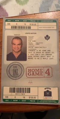Old leafs ticket  Oakville, L6H 2L1