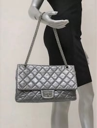 Authentic Chanel 2.55 Reissue Dark Silver Metallic Jumbo Flap Handbag Toronto, M9C 1B8