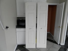 2 French doors removed from kitchen