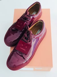 Acne Studios Adriana Patent Leather Sneakers Burgundy Red Toronto, M4Y 3G4