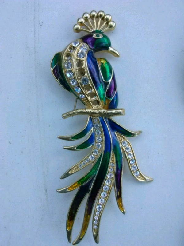 Peacock Brooch