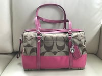 pink Coach monogram bag