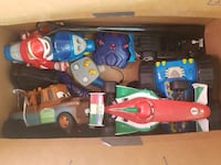 Box of remote toys