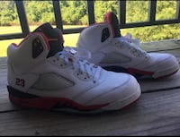pair of white Air Jordan 5's Lorton, 22079