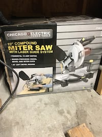 "10"" compound miter saw with laser system. Compton, 90221"