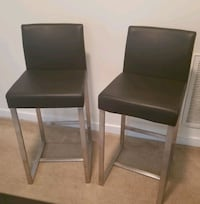 Black Counter Height stools (2 PC)