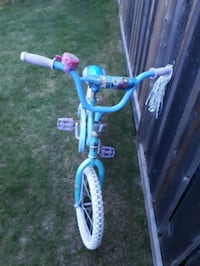 toddler's blue and white bicycle Red Deer