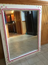 19x25 beaded mirror= perfect for a little girls room