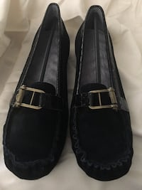 NEW Suede and Faux Croc Buckled Loafers Corona, 92882