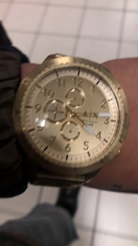 round silver-colored chronograph watch with link bracelet Tracy, 95304