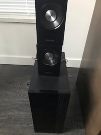 SAMSUNG 7 piece surround with 3D blue ray player