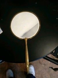 Antique brown metal hand mirror Philadelphia, 19124