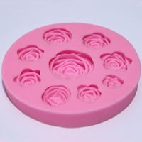 Flower rose silicone mold