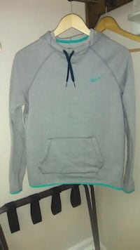 gray and green Nike pullover hoodie Augusta