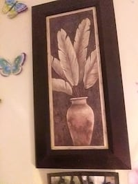 brown wooden framed painting of white flower Gatineau, J8T 2W6
