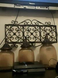two brown metal base table lamps Visalia, 93277