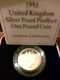 Silver proof 1993 one pound coin Greater London, SW15 3DT