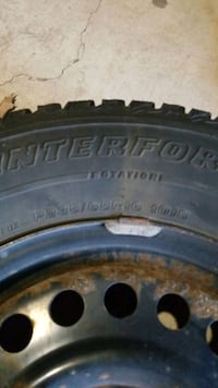 Firestone winter tires on steel Barrie