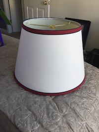 white and red lampshade Denton, 21629