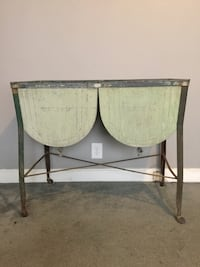 Vintage Salina country galvanized double basin wash tub with stand Louisville