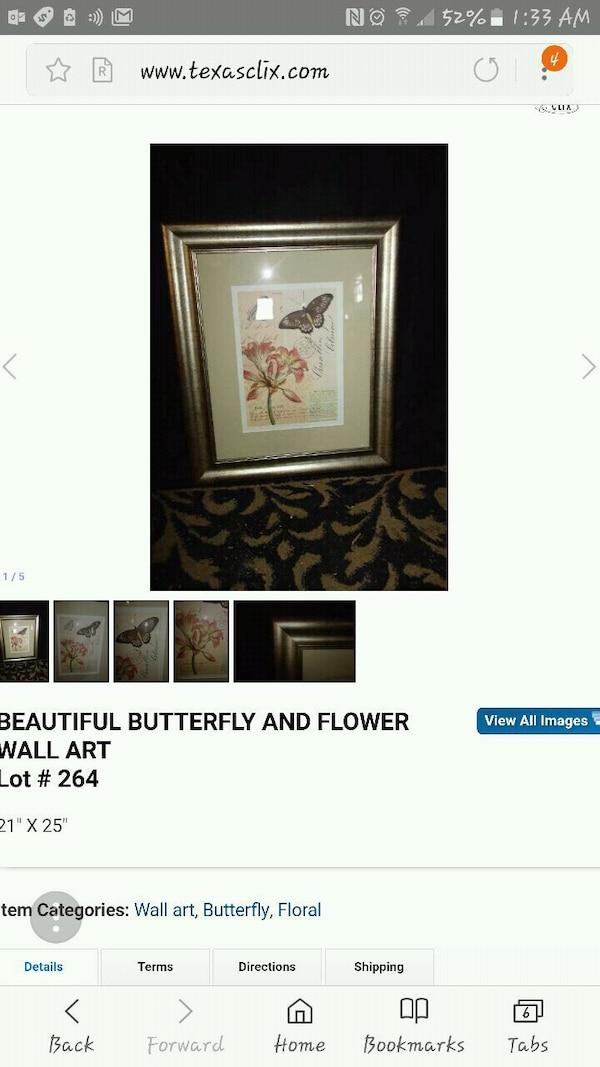 Butterfly and flowers picture