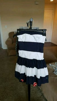 Women's Navy and White Abercrombie and Fitch dress Fort Worth, 76102