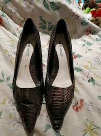 Leather nine west shoes