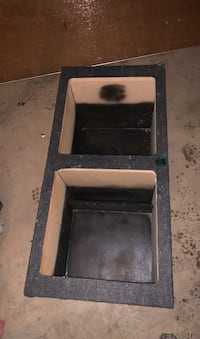 "Car subwoofer box squares 15"" ported on the sides"