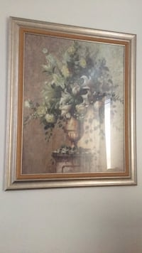 white petaled flower painting with brown wooden frame Fort Washington, 20744