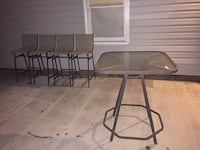 Pub height patio table and 4 chairs Willow Spring, 27592