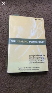 For Hearing People Only 3rd edition book Whittier, 90601