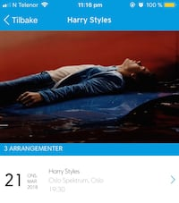 Harry Styles konsertbilletter