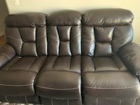 Dual recliner sofa with ottoman